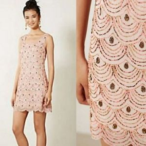 Moulinette Soeurs Pink Rose Sequin Dress